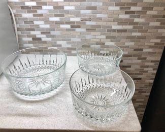 $45$ 3 serving glass bowls