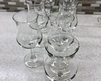 $40 9 Wine glasses