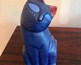 $22 Signed Cat statue