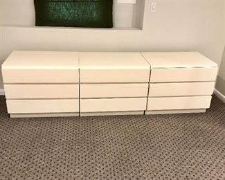 """$120 for 3 section white dresser each section  31"""" by 22"""" .  Section on far right AS IS."""