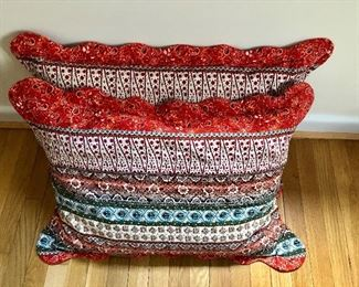 """$40 2 colorful pillows 26"""" by 21"""""""