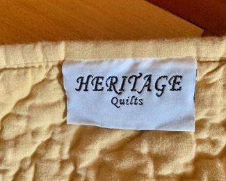 Back of quilt - Gold color