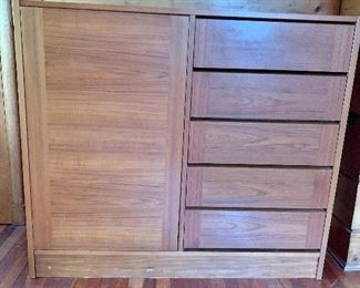 """$130 Chest cabinet AS IS scuffed at base minor scratches 49"""" Long by 43 1/4 inches high by 18 inches deep"""