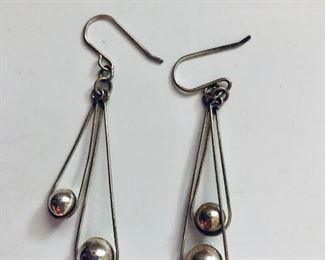 $15 Silver two ball earrings