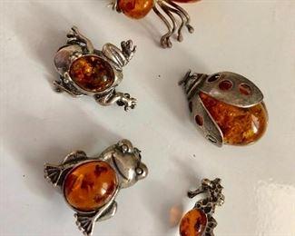 $50 LOT Amber animal pins