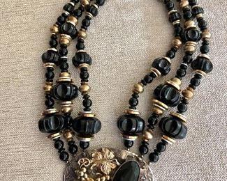 $25 3 Strand vintage beaded necklace