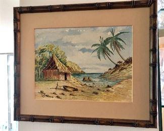 $80 Tropical scene