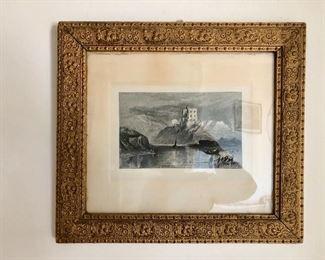 $125 Framed etching