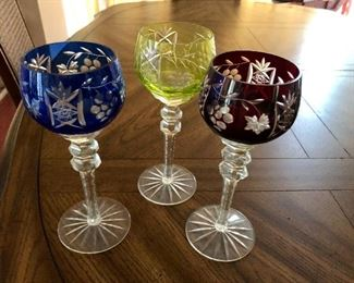 $75 3 etched goblets