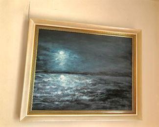 $175 Signed ocean night scene