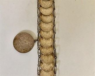 Detail coin bracelet Costa Rica