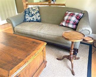 "Henredon sofa (down-feather cushion), approx 87"" wide"
