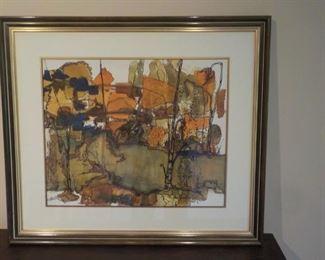 Mid-Century Framed Print  $40