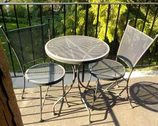 Patio Table, 2 Chairs  $30
