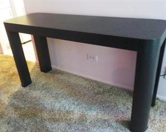"Black Side Table   50""  $$30"