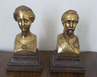 """Napoleon III & Eugenie bookends by Borghese  8"""" high $25"""