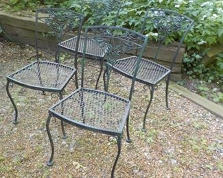 4 Vintage patio chairs, need painting.  $35