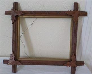 """Antique Adirondack frame    $20   15"""" x 13"""""""