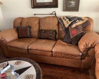 $725- Wow! Comfy  Italian leather sofa