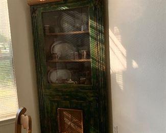 $525 custom designed Rustic corner cabinet