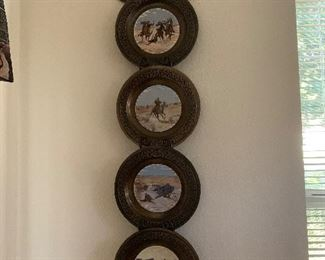 $125 ~ SET OF FOUR WESTERN COLLECTOR PLATES