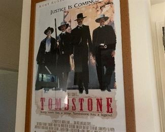 $50~ Tombstone framed poster