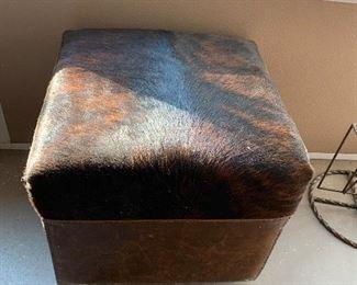 $150~ Brindle Cowhide foot stool