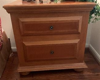 $285~PAIR OF TWO DRAWER NIGHTSTANDS