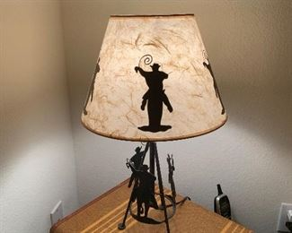 $68 ~ RUSTIC IRON WESTERN LAMP