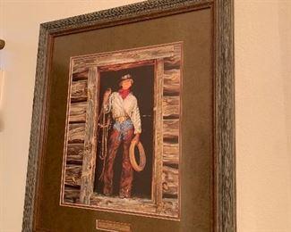 "$165~ Art Gordan Snidow Cowgirl "" Don't do windows"" Cowgirl print"