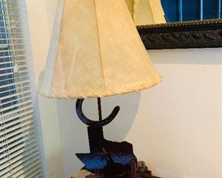 $ 95~TEXAS WROUGHT IRON LAMP