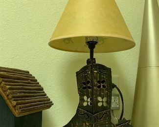 $25~ TWO LIGHTED COWBOY WESTERN BOOT LAMP