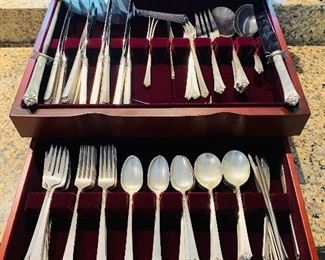Royal Cres Sterling Flatware, 93 pieces