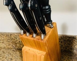 Wolfgang Puck Knife set with block