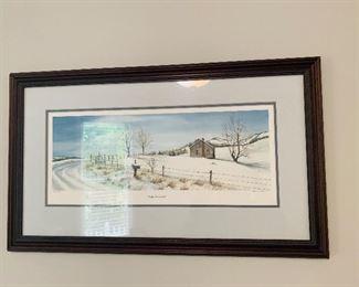Wall Art Print, Winter Wonderland