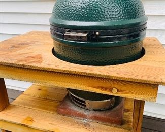 Big Green Egg Grill with Stand and Digital Thermometers