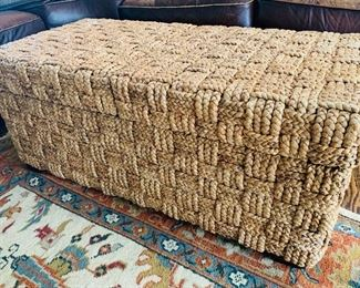 Woven Coffee Table with Storage