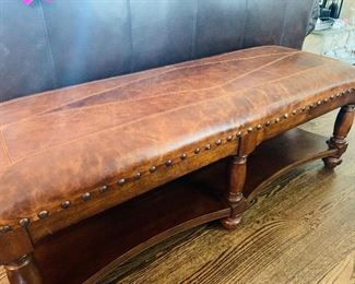 Leather Bench/Ottoman