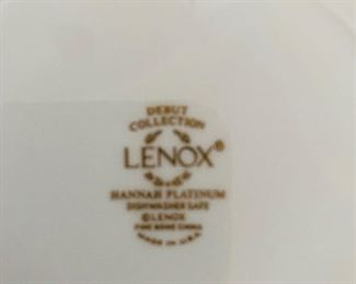Lenox, Hannah Platinum Dinnerware, Service for 10 plus additional pieces