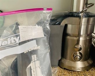 Breville Juicer with manual and attachments