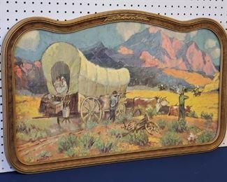 1928 Robert Wesley Amick Covered Wagon Print