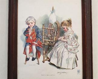 1900 Maud Humphrey Print Washington's Courtship