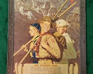 """1939 Rockwell """"Scouting Trail"""" Print Patches Etc"""