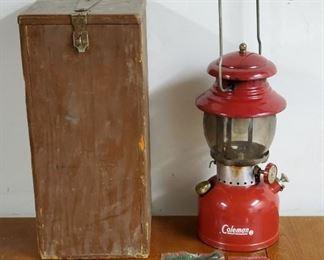 1962 Red Coleman 200A Propane Lantern