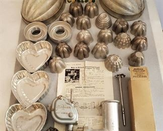 Vintage and antique kitchen molds  Sunbeam mixer grinder attachment