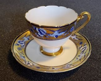 """Rare SHELLEY English bone china """"Blue Swallows"""" cup and saucer. Other Shelley pieces too."""