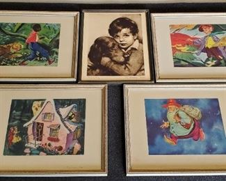 1930s J Knowles Hare Etching & Utz Childs Prints