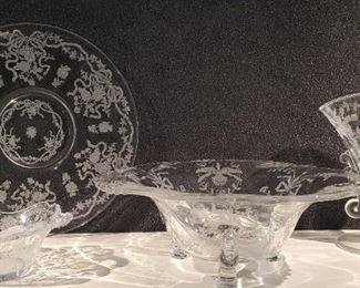 Heisey orchid & Other Elegant Glass