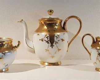 Gold trimmed antique porcelain