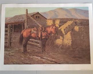 1980 Joe Beeler Caught In The Act Western Print